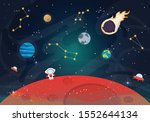 vector illustration of space.... | Shutterstock .eps vector #1552644134