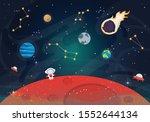 vector illustration of space.... | Shutterstock .eps vector #1552644134