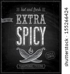 vintage extra spicy poster  ... | Shutterstock .eps vector #155266424