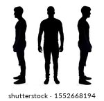 silhouette of a man on white...   Shutterstock . vector #1552668194