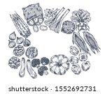 farm vegetables on white... | Shutterstock .eps vector #1552692731