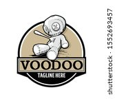 voodoo doll with a fork vector... | Shutterstock .eps vector #1552693457