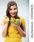 woman diet concept portrait.... | Shutterstock . vector #155269631