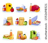 kids school healthy lunch and... | Shutterstock .eps vector #1552698521