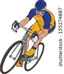 Cyclist In Action. Bicycle Rac...