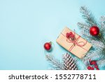 christmas flat lay background... | Shutterstock . vector #1552778711