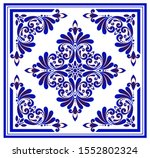 Blue And White Floral Pattern ...