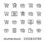 set icons of shopping baskets... | Shutterstock .eps vector #1552810784
