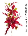 red christmas decoration... | Shutterstock . vector #155281394