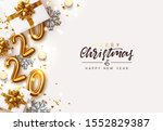 gold 2020 happy new year.... | Shutterstock .eps vector #1552829387