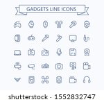 gadgets  line mini icons ....