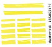 highlight marker lines.... | Shutterstock .eps vector #1552839674