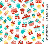 gifts seamless pattern on a... | Shutterstock .eps vector #1552845131