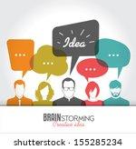 brainstorming | Shutterstock .eps vector #155285234