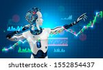 robot trader assistant on forex ...   Shutterstock . vector #1552854437