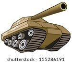 battle war tank with cannon | Shutterstock .eps vector #155286191