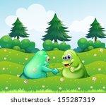 illustration of the two... | Shutterstock .eps vector #155287319