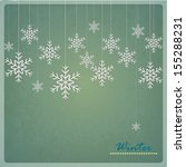 christmas card with snowflakes... | Shutterstock .eps vector #155288231