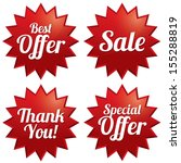 colorful sale  best offer ... | Shutterstock .eps vector #155288819