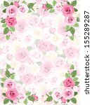 background with roses pattern.... | Shutterstock .eps vector #155289287