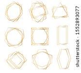 golden geometric frames....   Shutterstock .eps vector #1552893077