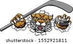 a wildcat ice hockey player... | Shutterstock .eps vector #1552921811