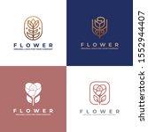 luxury flower logo design....   Shutterstock .eps vector #1552944407