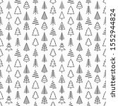 seamless pattern with christmas ... | Shutterstock .eps vector #1552944824