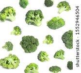 Collage Of Fresh Green Broccoli ...