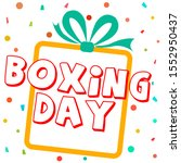 image alluding to boxing day | Shutterstock .eps vector #1552950437