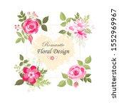 the rose elegant card. square...   Shutterstock .eps vector #1552969967