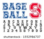baseball varsity distressed... | Shutterstock .eps vector #1552986737