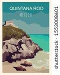 Quintana Roo Retro Poster....