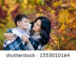 Beautiful Brunette Mom And Son ...