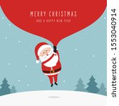 santa claus holding huge bag... | Shutterstock .eps vector #1553040914