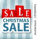 christmas sale design    Shutterstock . vector #155304941