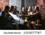 Friends Party In Hookah Lounge...