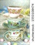 Vintage Porcelain Teacups And...