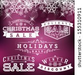 vector set of holidays sale... | Shutterstock .eps vector #155310911
