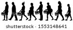 people with grocery baskets.... | Shutterstock .eps vector #1553148641