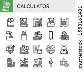 calculator simple icons set.... | Shutterstock .eps vector #1553161481