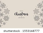 christmas snowflakes elements... | Shutterstock .eps vector #1553168777