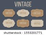vintage labels and frames set.... | Shutterstock .eps vector #1553201771