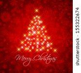 decorative christmas background ... | Shutterstock .eps vector #155322674