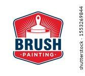 the brush painting painter... | Shutterstock .eps vector #1553269844