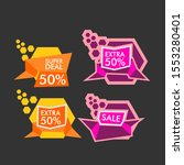 sale label or banner set with...   Shutterstock .eps vector #1553280401