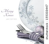 Christmas Menu Concept Isolated ...