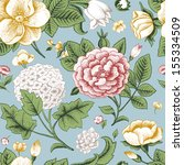 seamless pattern with vintage... | Shutterstock .eps vector #155334509