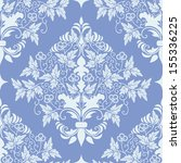 vector damask seamless pattern... | Shutterstock .eps vector #155336225