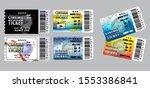 set of cinema tickets in... | Shutterstock .eps vector #1553386841
